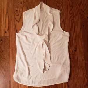 Michael Kors womens white tank with tie detail
